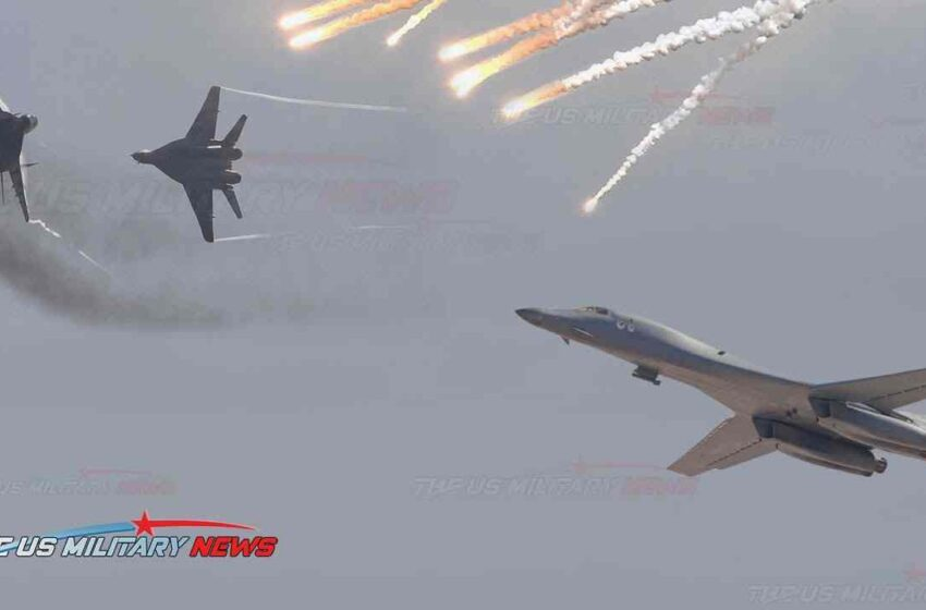 Almost clash: Russian Su-30 fighter jets overshadow US B-1B strategic bombers over the Black Sea